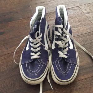 Purple Vans SK8 Hi shoes
